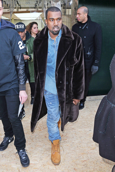 More Pics of Kanye West Fur Coat (4 of 4) - Fur Coat Lookbook - StyleBistro