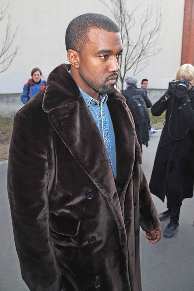 More Pics of Kanye West Fur Coat (1 of 4) - Fur Coat Lookbook - StyleBistro