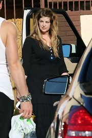 Kirstie Alley looked comfy in a black Henley shirt as she arrived for 'Dancing with the Stars' rehearsals.