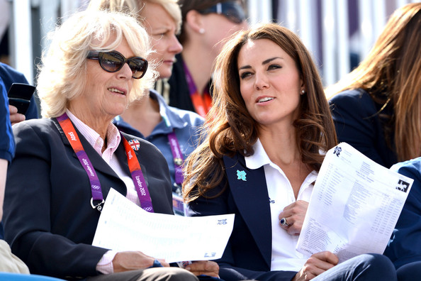 The British royals watch the Cross Country Phase of the London 2012 Olympics
