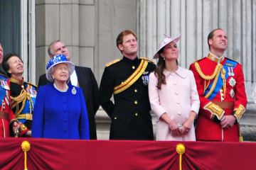 Kate Middleton Queen Elizabeth II Queen Elizabeth II, Prince Harry, Catherine Duchess of Cambridge and Prince William Duke of Cambridge attend the annual 'Trooping The Colour' ceremony at Buckingham Palace in London