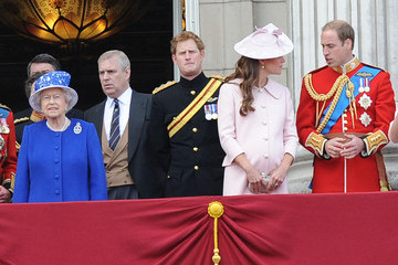 Kate Middleton Queen Elizabeth II British Royals Attend the Trooping the Colour Ceremony — Part 3