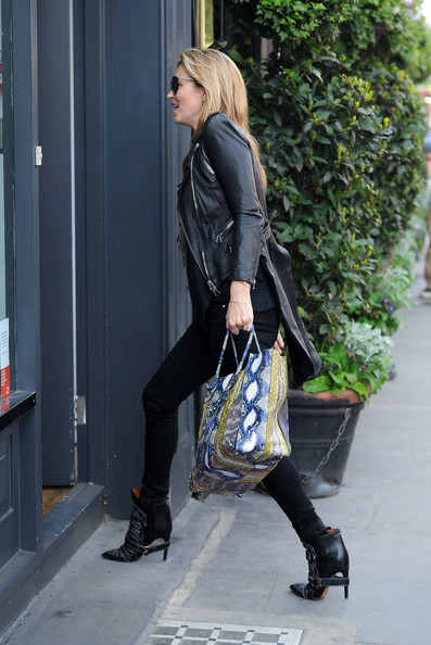 More Pics of Kate Moss Leather Jacket (5 of 18) - Kate Moss Lookbook - StyleBistro