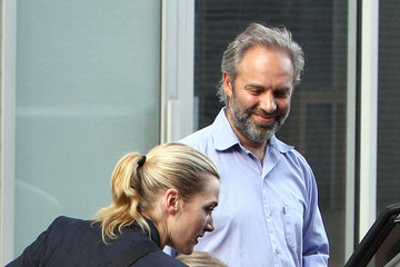 Kate Winslet Sam Mendes Kate Winslet and Sam Mendes Take Their Kids to School