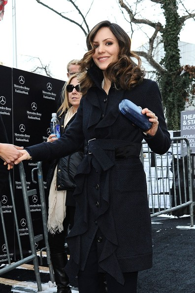More Pics of Katharine McPhee Wool Coat (1 of 14) - Katharine McPhee Lookbook - StyleBistro