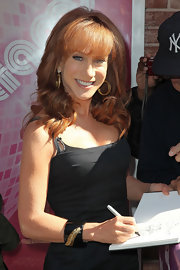 Kathy Griffin arrived for an appearance on 'The Wendy Williams Show' wearing her hair in long loose waves with lash-grazing bangs.
