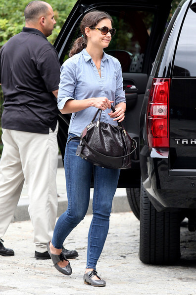 Katie Holmes Flat Oxfords