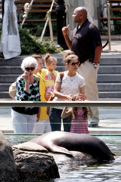 Katie Holmes takes her daughter Suri and mother Kathleen to the Central Park Zoo for a relaxing day after reaching a divorce settlement with Tom Cruise