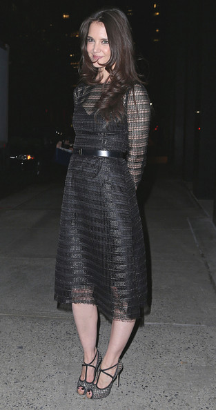 More Pics of Katie Holmes Platform Sandals (1 of 16) - Platform Sandals Lookbook - StyleBistro