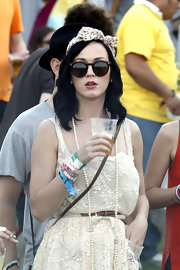 Katy Perry wore retro tortoiseshell Leonard sunglasses to Coachella.