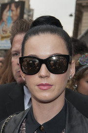 Katy Perry hid her eyes behind a pair of oversized Chanel shades.