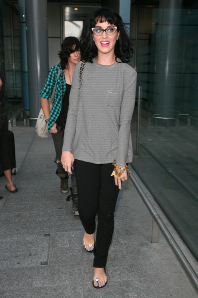 More Pics of Katy Perry Long Sleeve T-Shirt (1 of 14) - Tops Lookbook - StyleBistro []