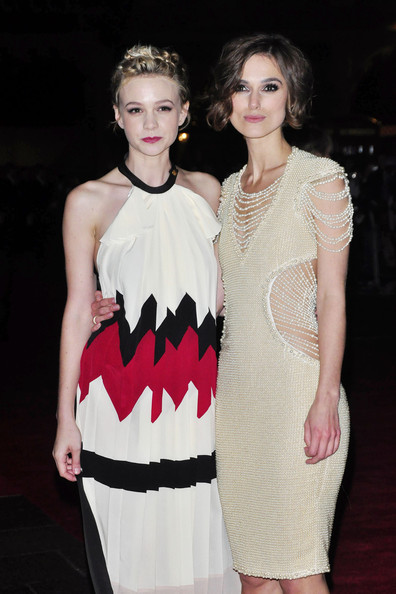 "Keira Knightley and Carey Mulligan at the Premiere of ""Never Let Me Go"" in London"