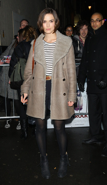 Keira Knightley Leather Coat