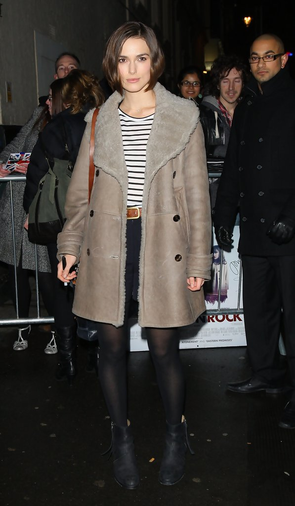 Keira Knightley Leather Coat Keira Knightley Looks