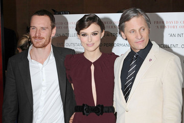 "Keira Knightley Michael Fassbender Keira Knightley attending the UK premiere of ""A Dangerous Method"" held in the crystal room at the May Fair Hotel, London"