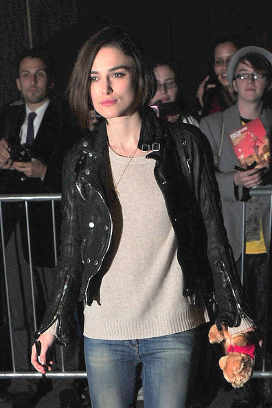 More Pics of Keira Knightley Leather Jacket (1 of 2) - Keira Knightley Lookbook - StyleBistro