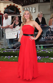 Heidi Range arrived at the 'Twilight Saga: Eclipse' premiere wearing a strapless chiffon gown.
