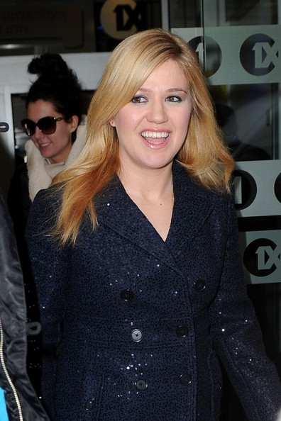 More Pics of Kelly Clarkson Pea Coat (1 of 8) - Kelly Clarkson Lookbook - StyleBistro