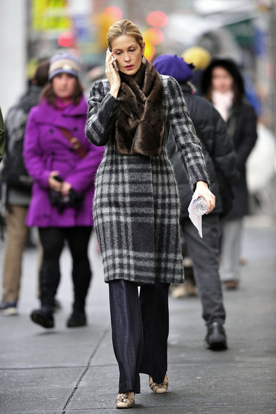 Kelly Rutherford Wool Coat