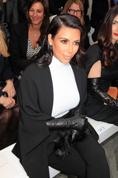 Kim Kardashian Leather Gloves