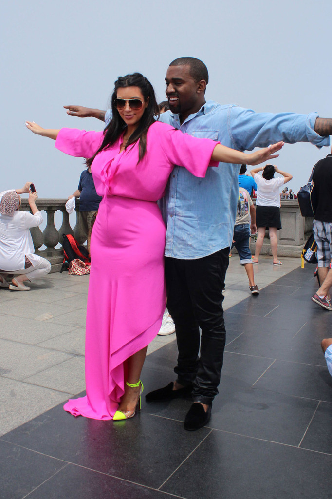Kim Kardashian and Kanye West in Brazil 2