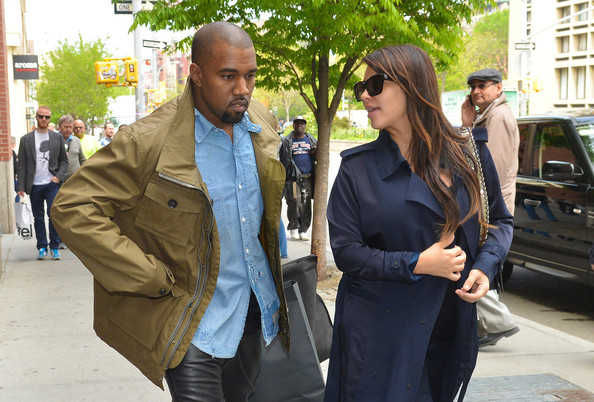 Kim Kardashian and Kanye West Spend the Day Together