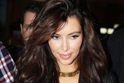 Kim Kardashian Wears Her Hair Long and Wavy in Paris