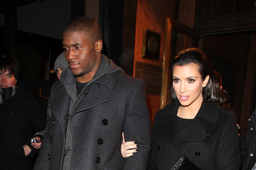 Kim Kardashian Reggie Bush Kim Kardashian and Reggie Bush Leave The Tent in Bryant Park