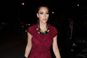 Kim Kardashian Wears Statement Necklace to BOA Steakhouse
