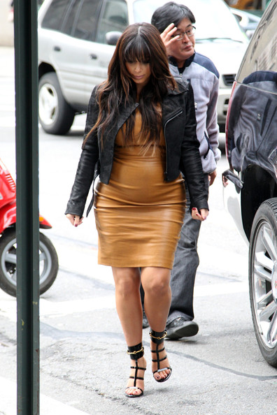 More Pics of Kim Kardashian Leather Dress (5 of 15) - Leather Dress Lookbook - StyleBistro