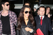 Reality personality Kim Kardashian arrives at Roissy airport in Paris, France to attend Paris Fashion Week.