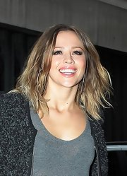 Kimberley Walsh rocked a messy shoulder-length layered cut during a visit to BBC Radio 1.