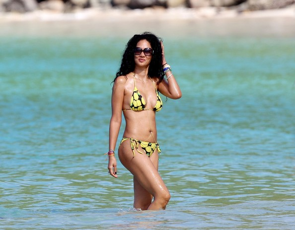 Kimora Lee Simmons in St Barths