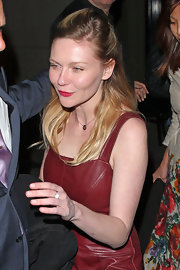 Kirsten Dunst opted for a half up, half down 'do while dining out in Hollywood.