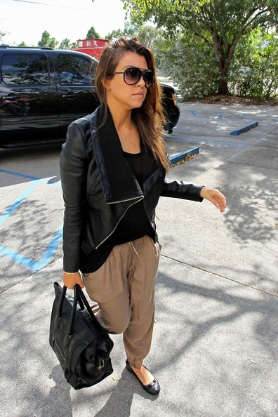 Kourtney Kardashian Leather Jacket
