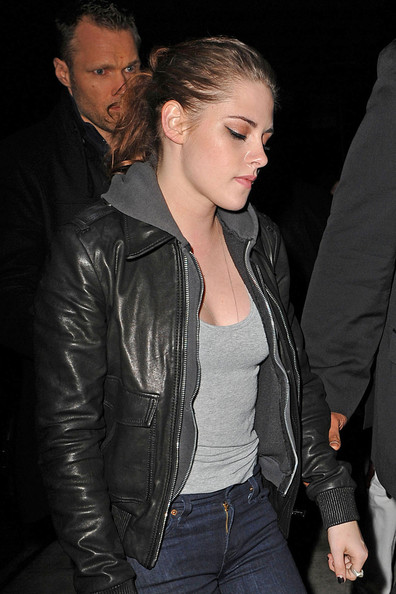 More Pics of Kristen Stewart Leather Jacket (4 of 9) - Kristen Stewart Lookbook - StyleBistro
