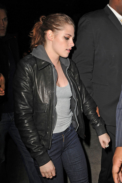 More Pics of Kristen Stewart Leather Jacket (2 of 9) - Kristen Stewart Lookbook - StyleBistro