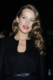 Petra showed off her retro waves while hitting the Luca Luca fashion show.