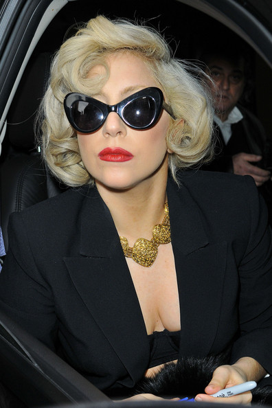 Lady Gaga Gold Collar Necklace