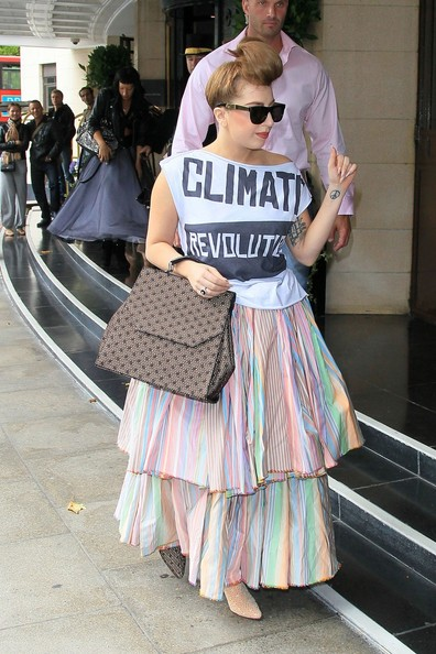 Lady Gaga Long Skirt