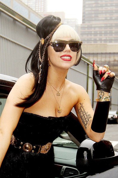 Lady Gaga Designer Shield Sunglasses