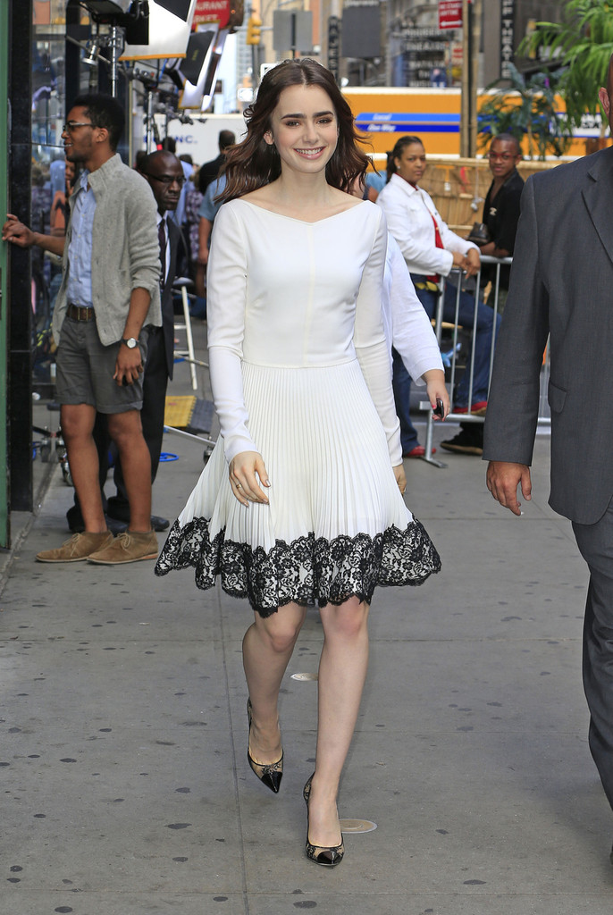 Lily Collins Stops by 'GMA'