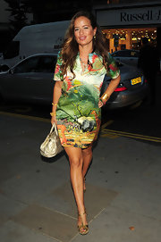 Jade Jagger's fun colorful dress had an equally fun print to match.
