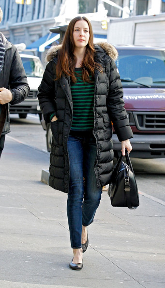 Liv Tyler Down Jacket