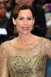 Curled bangs gave Minnie Driver's blown out updo a retro vibe at the 'Prometheus' premiere.