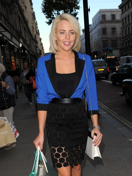 Lydia Rose Bright Pencil Skirt