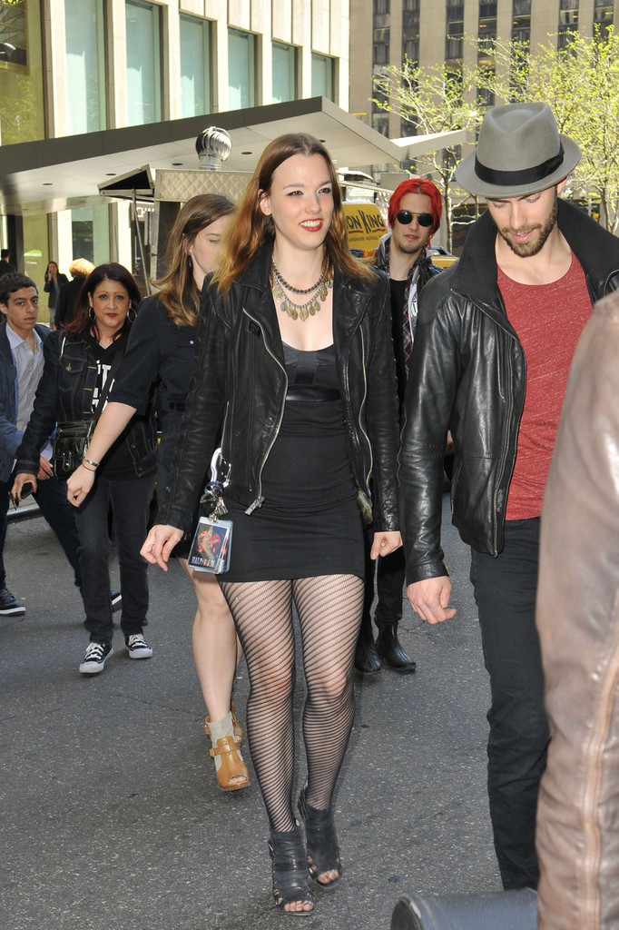 More Pics Of Lzzy Hale Leather Jacket 2 Of 15 Lzzy
