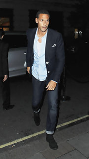 Rio looked ready for a night out on the town in a sharp blazer and equally cool cuffed jeans.