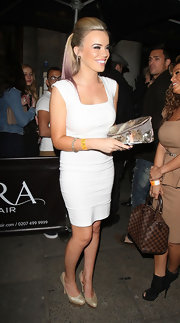 Maria Fowler was white hot in her body-con dress while enjoying a night out in London.